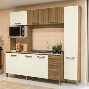 Cozinha Compacta Kappesberg Soft E780-FROW – com Balcão 7 Portas 3 Gavetas
