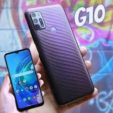 "Smartphone Motorola Moto G10 64GB Cinza Aurora – 4G 4GB RAM Tela 6,5"" Câm. Quádrupla + Selfie 8MP"