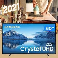 """Smart TV 60"""" Crystal 4K Samsung 60AU8000 Wi-Fi – Bluetooth HDR Alexa Built in 3 HDMI 2 USB"""