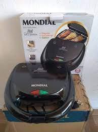 Sanduicheira Mondial Fast Grill e Sandwich – Preto 750W – 110v/220v