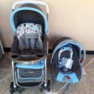 Carrinho de Bebê com Bebê Conforto Cosco Travel System Reverse Cosco