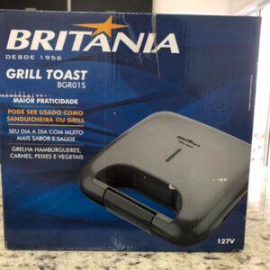 Sanduicheira Britânia Toast Preta 750W – Antiaderente – 110v/220v