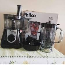 Multiprocessador Philco Preto All in One 2 Citrus – 2 Velocidades + Pulsar 800W – 110v/220v