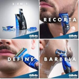 Aparelho De Barbear Gillette – Styler 3 em 1