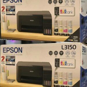 Impressora Multifuncional Epson EcoTank L3150 – Tanque de Tinta Wi-Fi Colorida USB