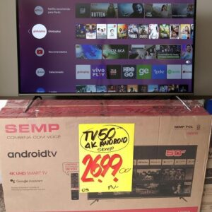 Smart TV LED 50″ SEMP SK8300 Ultra HD 4K HDR Android W...