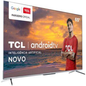 "Smart TV 4K UHD LED 65"" TCL 65P715 Android Wi-Fi – Bluetooth 3 HDMI 2 USB"