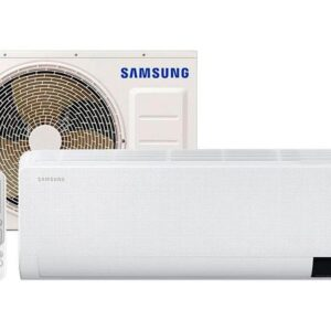 Ar-condicionado Split Samsung Inverter 12.000 BTUs – Quente e Frio Wind Free AR12TSHCBWKNAZ – 220v