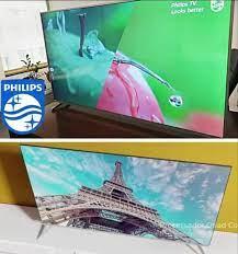 "Smart TV 4K LED 50"" UHD Philips 50PUG6654/78 Wi-Fi – Bluetooth 3 HDMI 2 USB Bordas Ultrafinas"