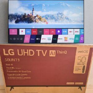 cupom→( TV250 ) Smart TV 50″ LG 50UN7310 UHD 4K Wifi Bluetooth Hdr Inteligência Artificial Thinq Ai Comando de Voz