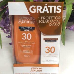 Kit Protetor Solar Fps30 + Protetor Facial Fps30 – Cenoura e Bronze