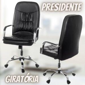 Cadeira de Escritório Presidente Giratória Preta – P-750 Prizi