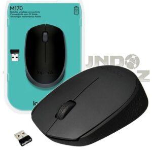 Mouse sem Fio Logitech Óptico 1000DPI 3 Botões – M170 Preto