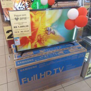 """cupom→( VALE10 ) Smart TV LED 40"""" Samsung Tizen FHD 40T5300 2020 com WIFI HDR para Brilho e Contraste e Plataforma Tizen"""