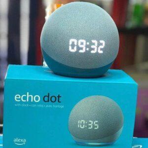 Echo Dot 4ª Geração c/ Relógio com Alexa – Controle facilmente dispositivos compatíveis com sua voz