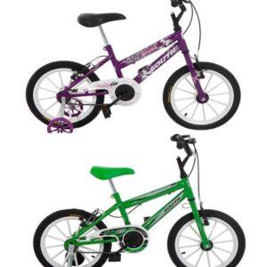 Bicicleta Infantil Aro 16 South Bike com Rodinhas Freio V-Brake