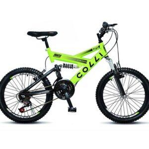 Bicicleta Infantil Colli Fulls GPS Aro 20 Dupla Suspensão 21 Marchas