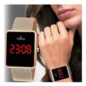 Relógio Feminino Champion Digital Esportivo – Dourado