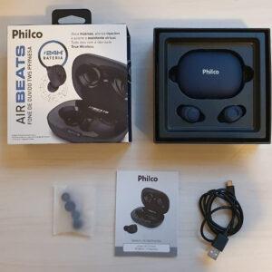 Fone de Ouvido Bluetooth Philco Air Beats PFI96ESA – True Wireless com Microfone Resistente à Água