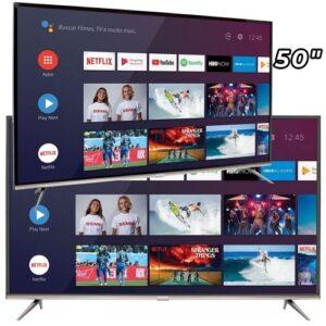 Smart Tv Led 50″ Semp Sk8300 4k Hdr Android Wi-Fi 3 Hdmi 2 Usb Controle Remoto Com Atalhos Chromecast Integrado – Use o cupom→ ELETRO10