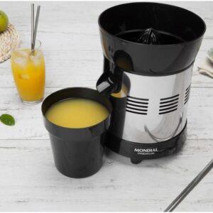 Espremedor de Frutas Mondial Cozinha E-10 Elétrico – Inox 250W Capacidade 1L