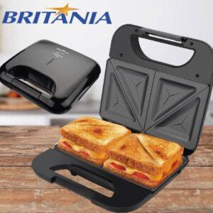 Sanduicheira Britânia Toast Preta 750W – Antiaderente – 110v
