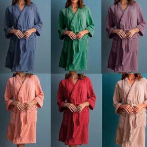 Roupão Atlântica Kimono de Microfibra Dalia – Tam. P,M,G (varias cores disponível)