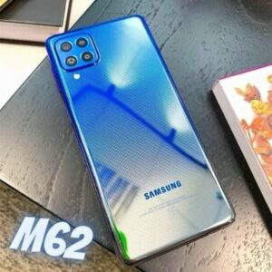 "Smartphone Samsung Galaxy M62 128GB Azul – 4G 8GB RAM Tela 6,7"" Câm. Quádrupla + 32MP"