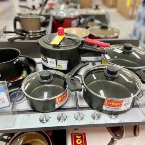 Jogo de Panelas Eirilar Antiaderente de Alumínio – Preto 6 Peças