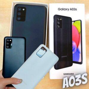 "Smartphone Samsung Galaxy A03s 64GB Azul 4G – 4GB RAM Tela 6,5"" Câm. Tripla + Selfie 5MP"