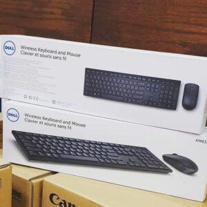 Kit Teclado e Mouse Wireless (sem fio) Dell 1000dpi- Branco