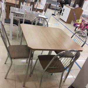 Mesa de Cozinha 4 Cadeiras Quadrada Crome Jade &#8...
