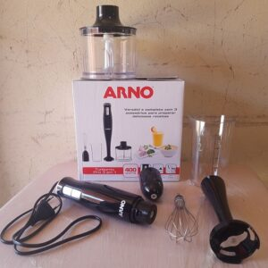 Mixer Arno 3 em 1 Preto 400W Turbomix 2 Velocidade...