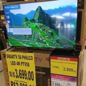 Smart TV Roku 58″ Philco Led UHD 4K PTV58G70...
