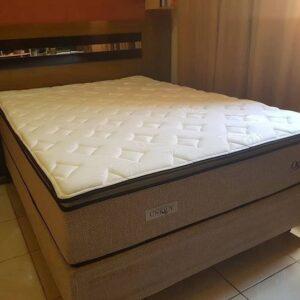 Cama Box Casal (Box + Colchão) Plumatex Molas – 65cm ...