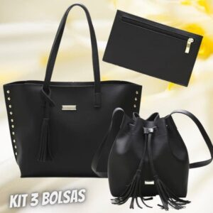Kit Calfer 3 Bolsas – Saco e Tote Feminina L...