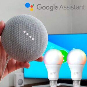 Kit Nest Mini 2ª geração Smart Speaker com Google Assistente + 2 Lâmpadas Inteligentes