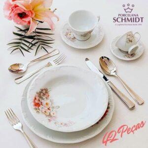 Aparelho de Jantar Chá Café Schmidt Porcelana Et...