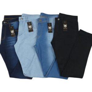 Kit Com 4 calças jeans masculina Elastano