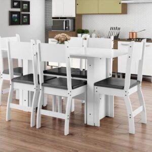 Mesa de Cozinha 6 Cadeiras Retangular Milano &#821...