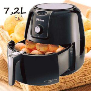 Fritadeira Elétrica sem Óleo/Air Fryer Philco – Gourmet PFR13P Preta 7,2L com Timer – 110v/220v