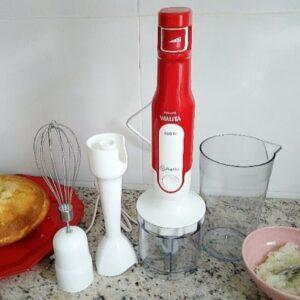 Mixer Philips Walita 3 em 1 Branco e Vermelho 400W...